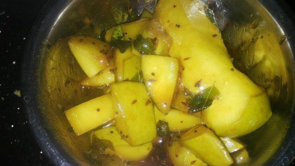 Mango pachadi , Raw mango pachadi