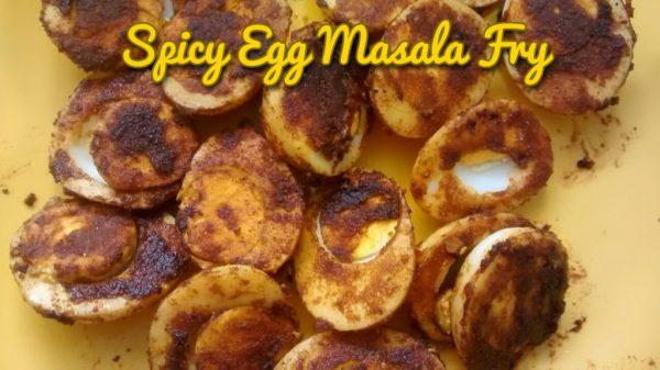 Spicy Egg masala fry