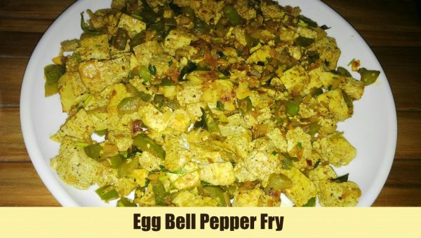 Egg bell pepper fry