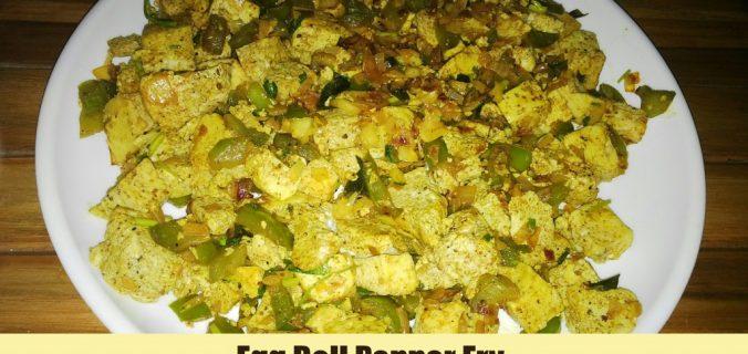 Egg bell pepper fry
