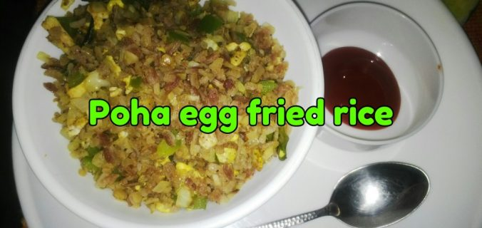 Poha egg fried rice
