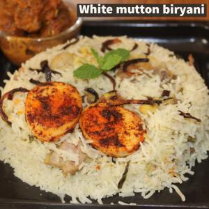 White mutton Biriyani