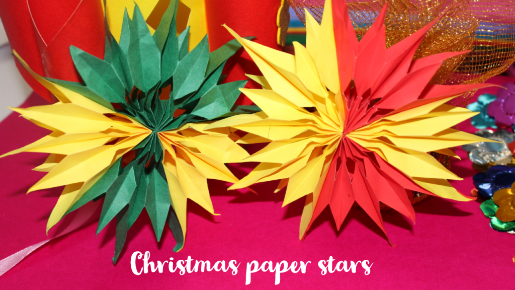 Christmas Paper stars for christmas tree