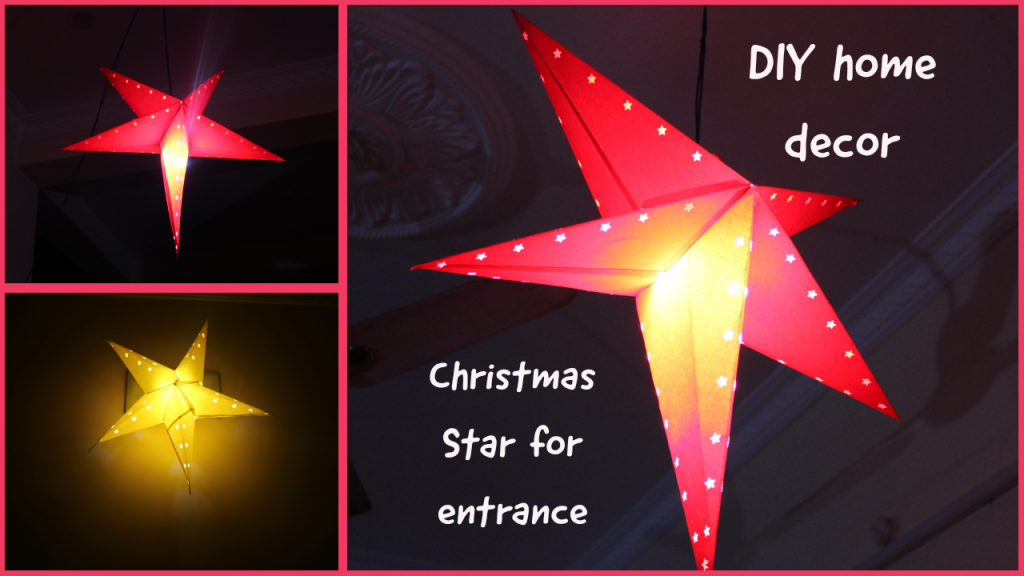 Christmas star with light for entrance
