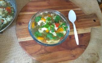 Egg Drop Soup Serve hot