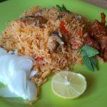 Mushroom Biriyani Pressure cooker method