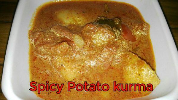 Spicy potato Kurma