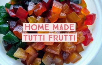 Watermelon rind Tutti frutti